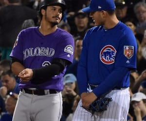 baseball, cubs, and rockies image