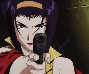 anime, Faye Valentine, and gun image