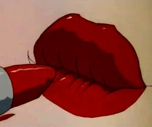 gif, lipstick, and red image