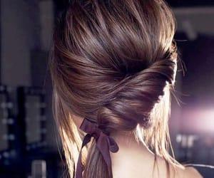 article, long hair, and brown hair image
