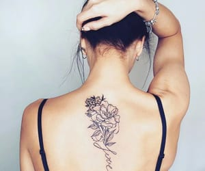 flowers, linework, and dotwork image