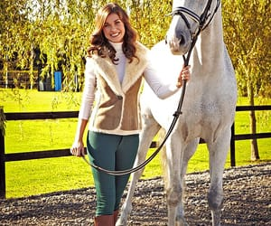 equestrian, grey, and horse riding image