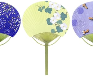 hand fan, paper hand fan, and cheap hand fan image
