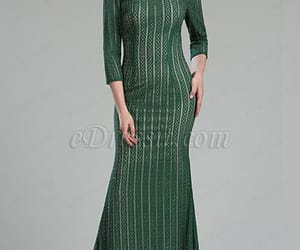 green dress, formal dress, and mother of the bride dress image