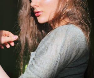 girl, long hair, and highlight image
