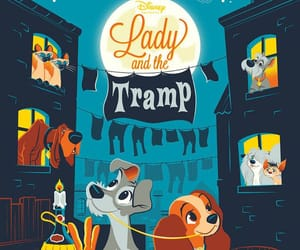 disney, lady and the tramp, and movie poster image