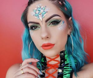 festive and makeup image
