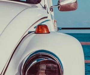 beach, car, and wallpaper image