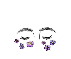 wallpaper, eyes, and flowers image