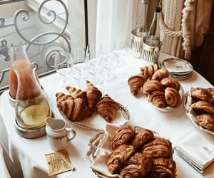 breakfast, croissant, and paris image