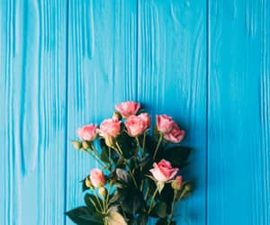 beautiful, teal, and flowers image