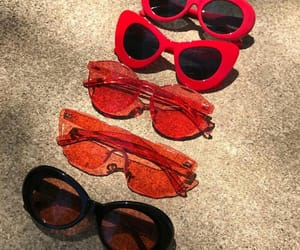 red, fashion, and glasses image
