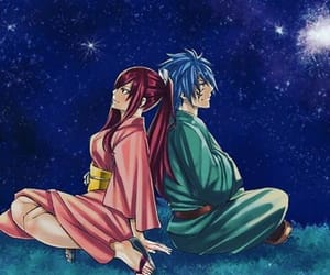 fairy tail, erza, and couple image