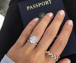passport, ring, and travel image