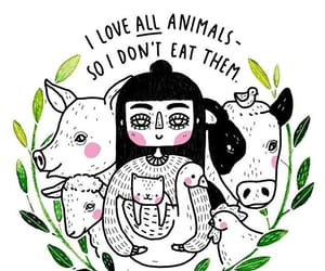 animals, vegetarianism, and love image