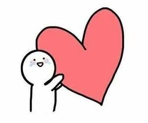 meme, love, and heart image