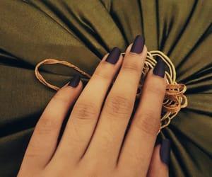 girl, green, and nails image