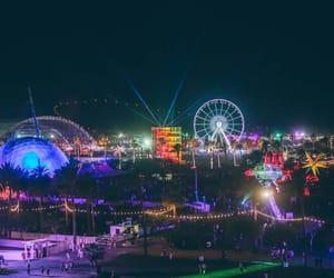 coachella, lights, and music image