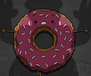 wallpaper, homer, and donut image