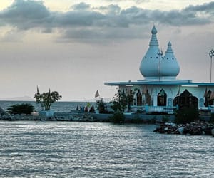 travel, trinidad and tobago, and temple in the sea image
