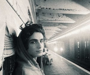 boy, timothee chalamet, and b&w image