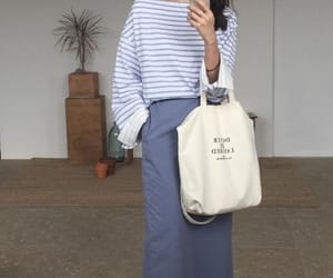 asian, bag, and blue image
