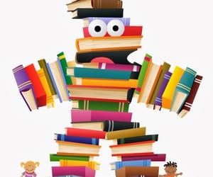 cultura, libros, and dibujo divertido image