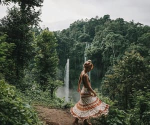 change, woman, and forest image