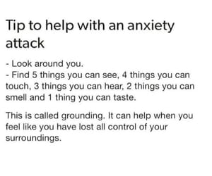 anxiety, quotes, and anxiety attack image