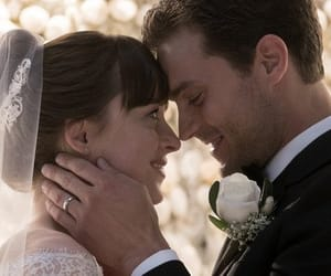 wedding, couple, and Jamie Dornan image