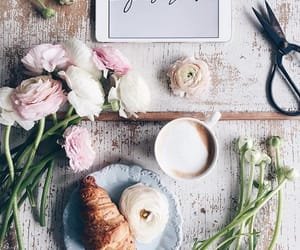 article, coffee, and flowers image