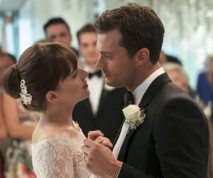 wedding, dakota johnson, and christian grey image