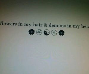 flowers, demon, and quotes image