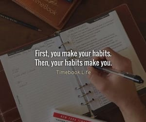 habits, motivation, and quote image
