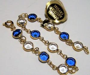 costume jewellery, rhinestone bracelet, and etsy image