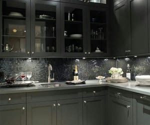 kitchen, luxury, and black image
