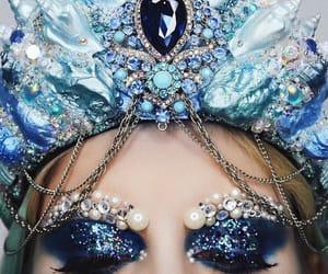 crown, pearls, and makeup look image