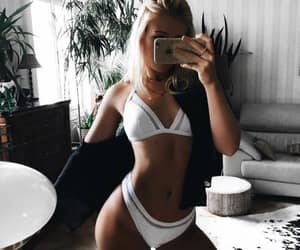girl, beauty, and bikini image
