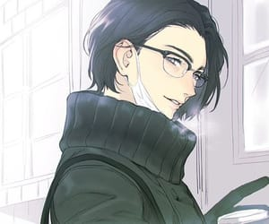 black hair, cool, and glasses image