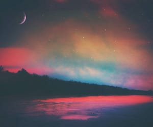 moon, sky, and colors image