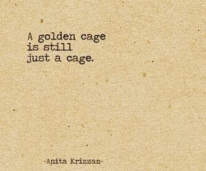 quotes, cage, and gold image