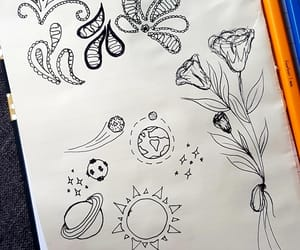 art, doodle, and flower image