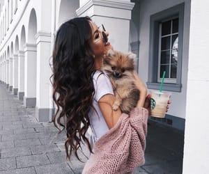 girl, dog, and tumblr image