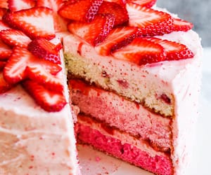 cake, dessert, and strawberry image
