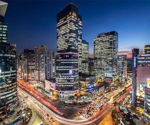 city, south korea, and korea image