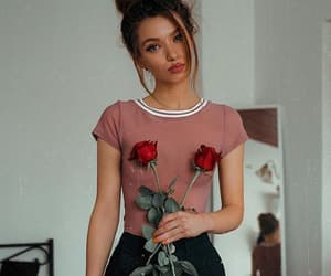 fashion, red, and rose image