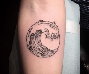 tattoo, waves, and art image