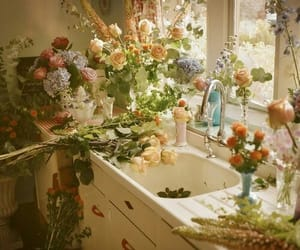 flowers, vintage, and rose image
