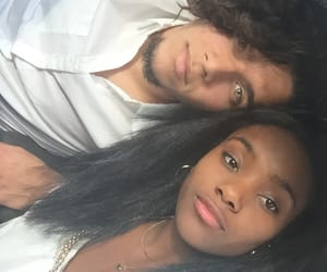 black girl, couple, and interracial image