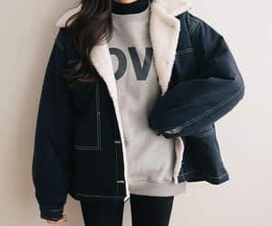 article, jacket, and jeans image